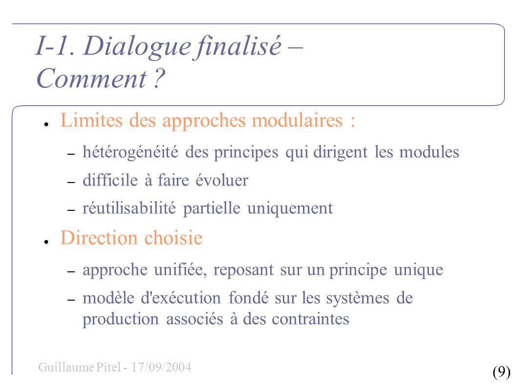 (60) Guillaume Pitel - 17/09/2004 IV.