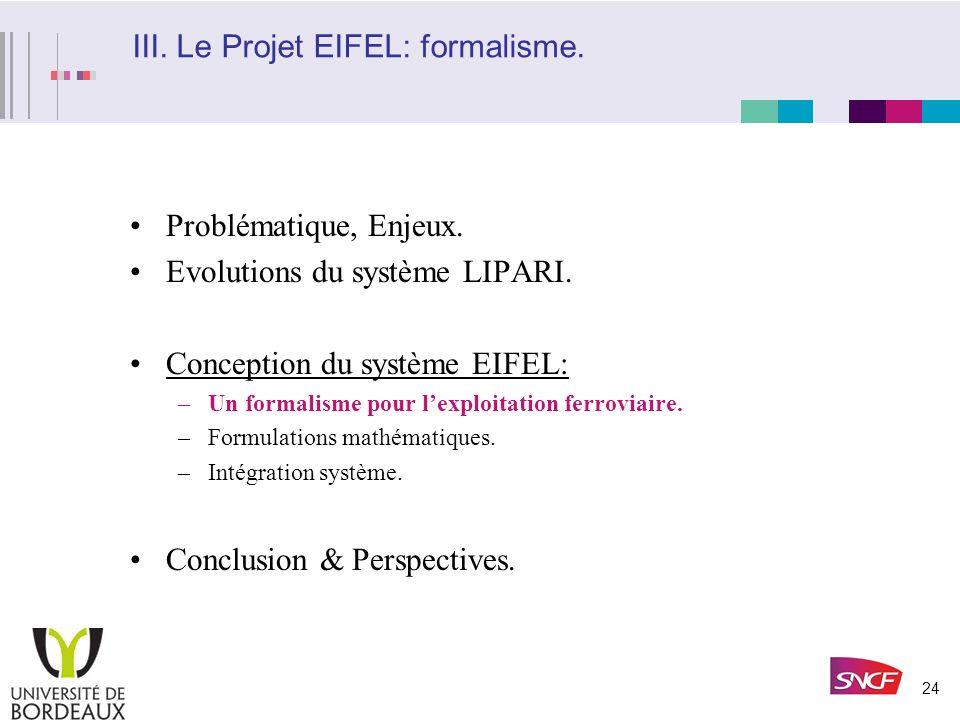 23 Conclusions et identification de nouveaux besoins (suite aux expériences sur base LIPARI) Problème de représentation (passage entre différents nive