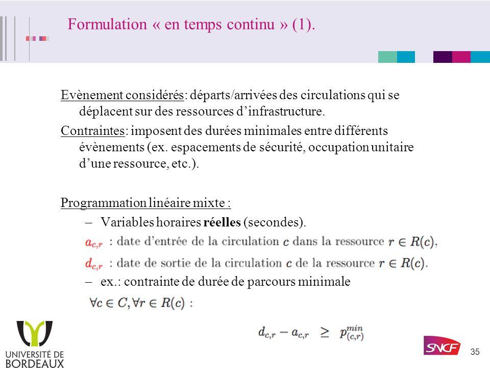 34 Formulation « en temps continu ».