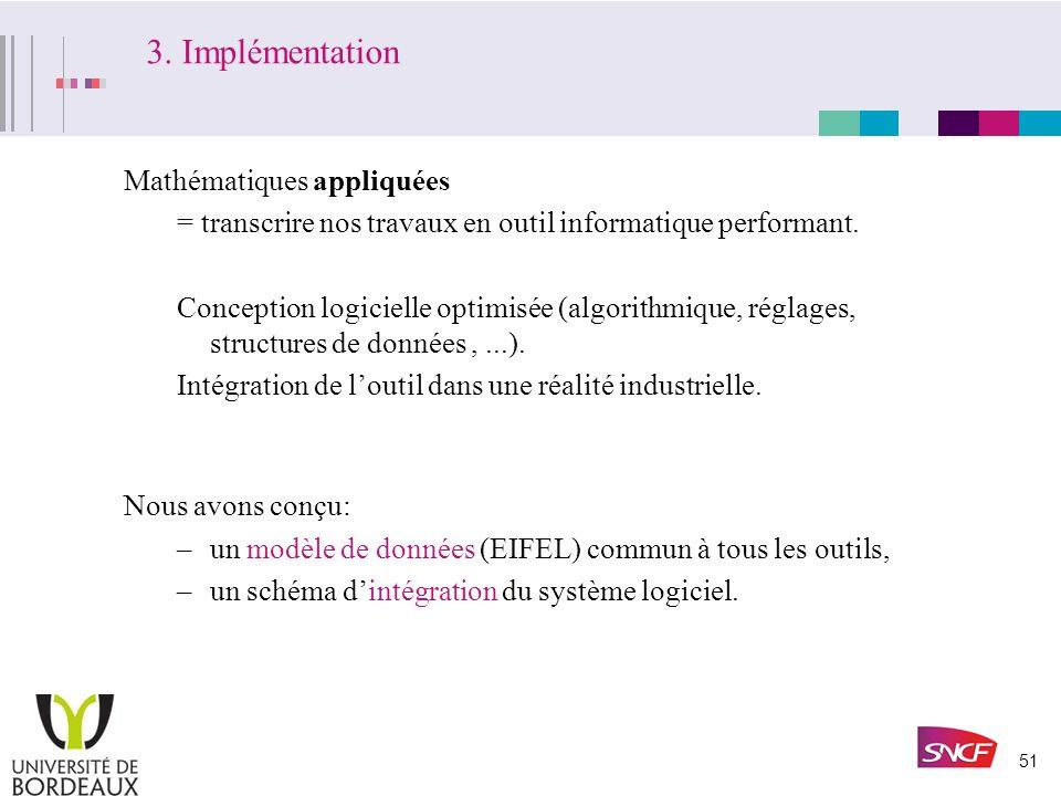 50 III. Le projet EIFEL:intégration système. Problématique, Enjeux. Evolutions du système LIPARI. Conception du système EIFEL: –Un formalisme pour lex
