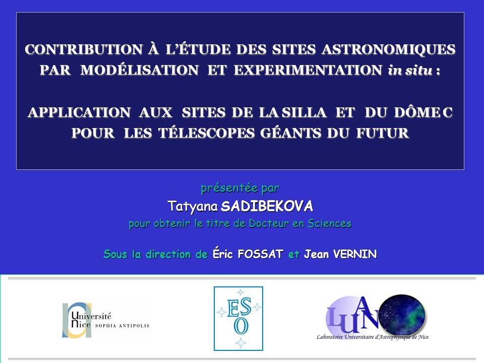 32 http://www.eso.org/outreach/gallery/las/ Campagne de caractérisation de site a été organisée par lESO en 2002 (M.Sarazin) G-SCIDAR – instrument de Imperial College (Ch.Dainty) a été installé sur un télescope de 1m Données collectées pendant 5 mois représentent 600Go d images.