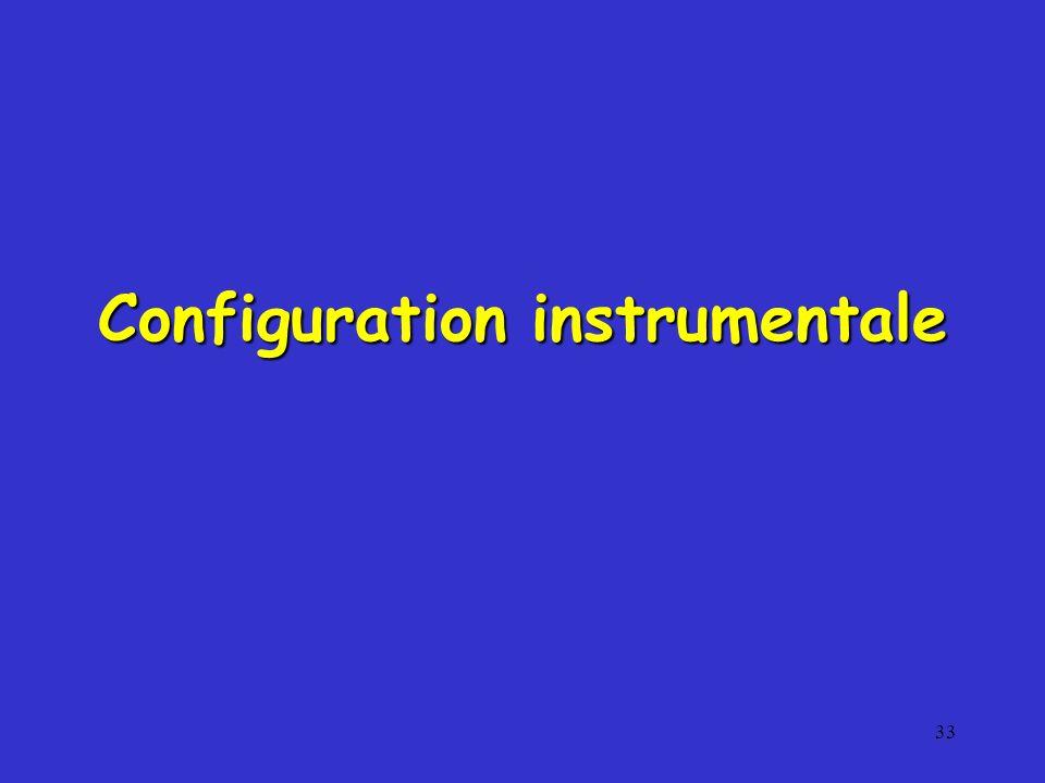 33 Configuration instrumentale