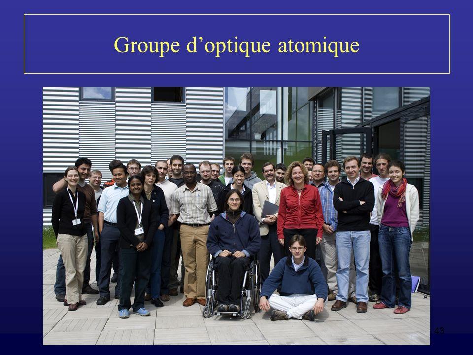 43 Groupe doptique atomique