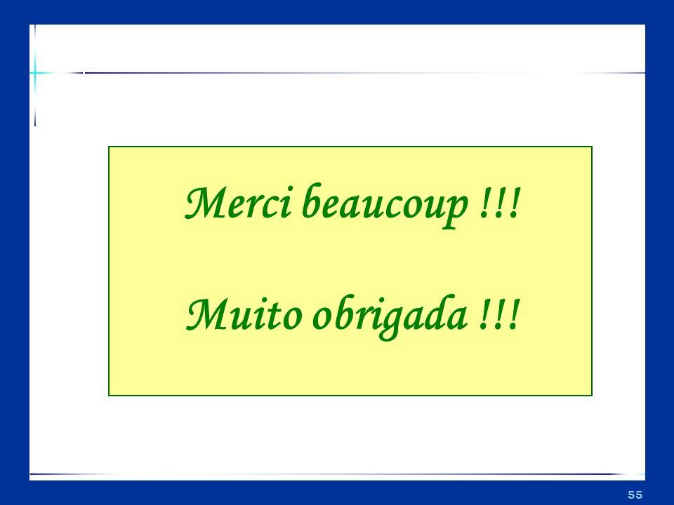 55 Merci beaucoup !!! Muito obrigada !!!