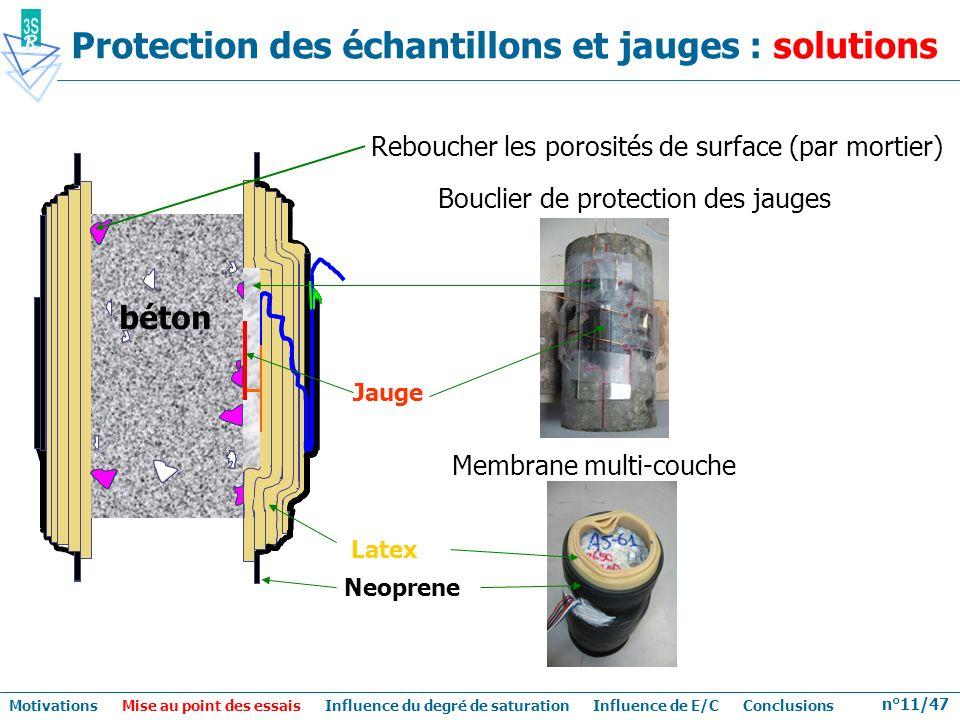 n°11/47 Membrane multi-couche Latex Neoprene béton Bouclier de protection des jauges Jauge Protection des échantillons et jauges : solutions Reboucher