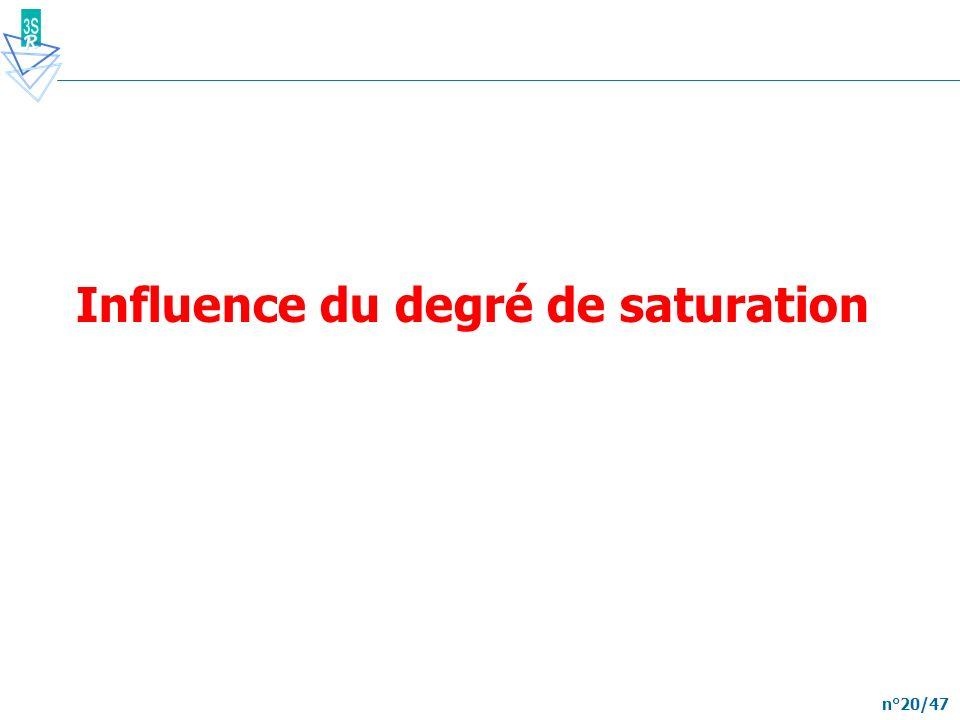 n°20/47 Influence du degré de saturation