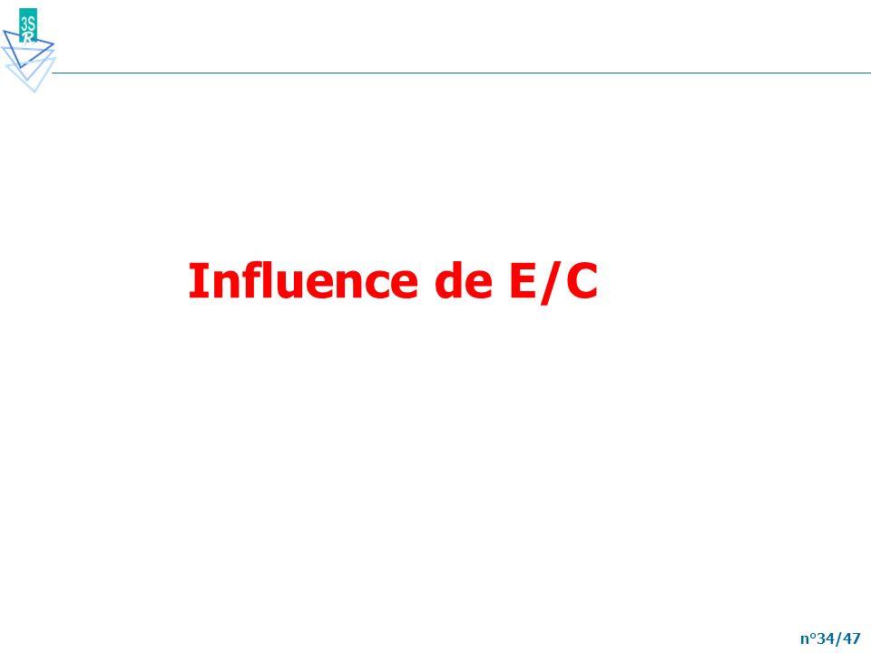 n°34/47 Influence de E/C
