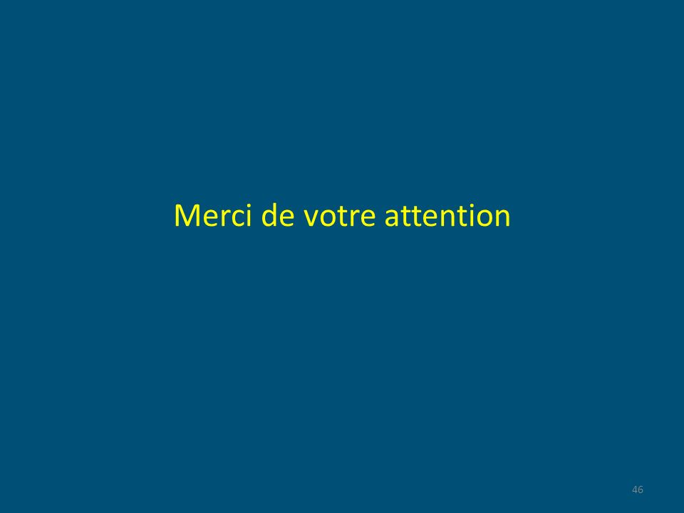 Merci de votre attention 46