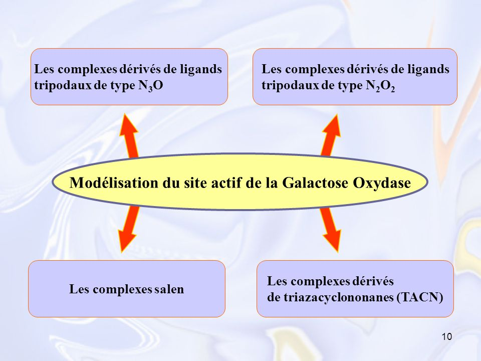 10 Les complexes dérivés de ligands tripodaux de type N 3 O Les complexes dérivés de ligands tripodaux de type N 2 O 2 Les complexes salen Les complex