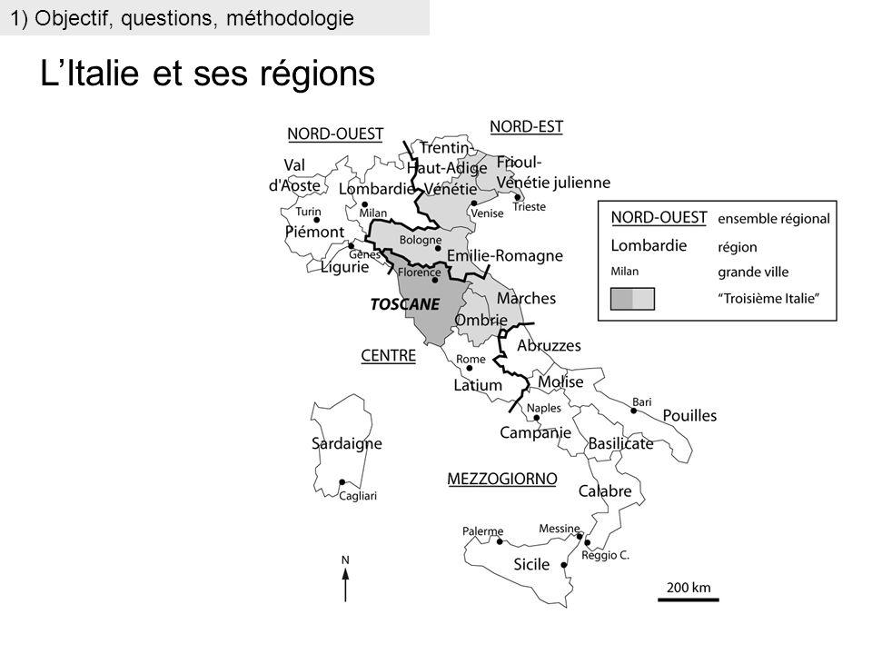 LItalie et ses régions 1) Objectif, questions, méthodologie