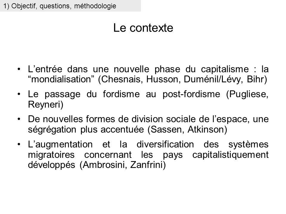 Le contexte Lentrée dans une nouvelle phase du capitalisme : la mondialisation (Chesnais, Husson, Duménil/Lévy, Bihr) Le passage du fordisme au post-f