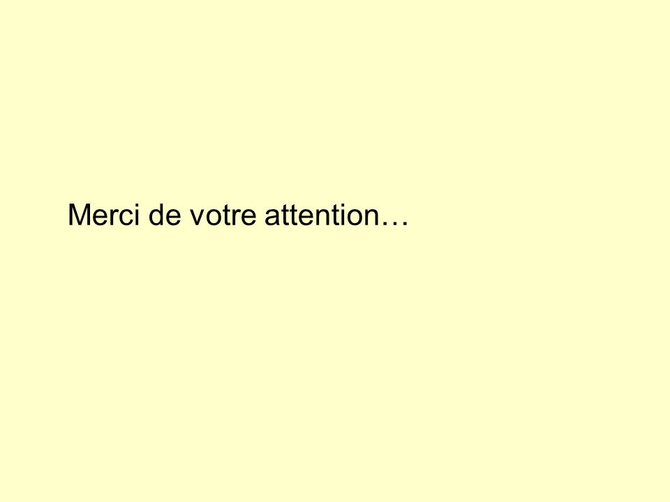 Merci de votre attention…