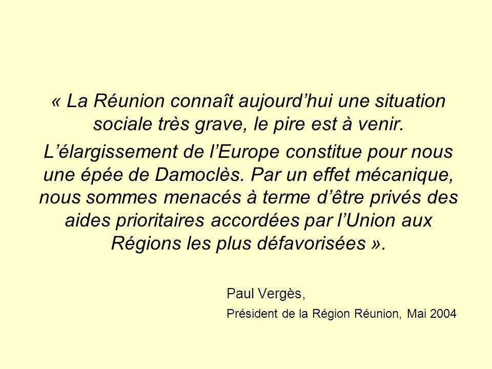 « La Réunion connaît aujourdhui une situation sociale très grave, le pire est à venir.