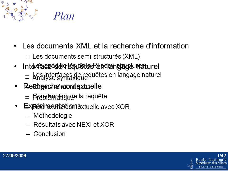 Extraction et recherche d'information en langage naturel dans les documents semi-structurés Soutenance de thèse Xavier Tannier Ecole Nationale Supérie