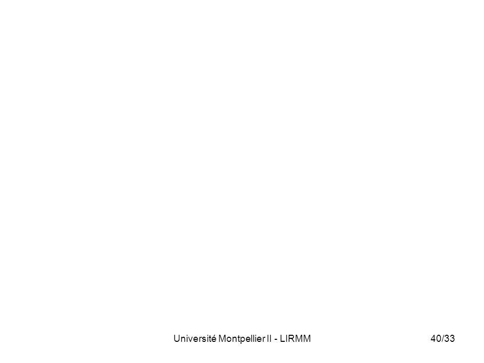 Université Montpellier II - LIRMM40/33