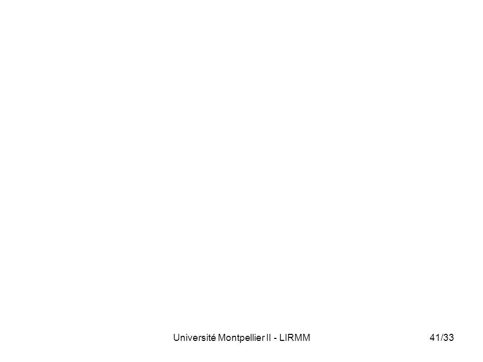 Université Montpellier II - LIRMM41/33