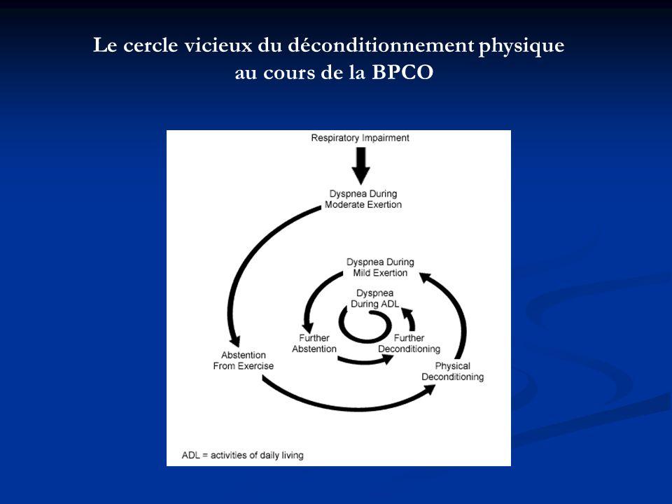 4) conclusion Par rapport à dautres études, notre étude se caractérise par : Période plus longue Programme plus formel Recueil dindex subjectifs et objectifs Recrutement de patients atteints de BPCO de gravité plus sévère