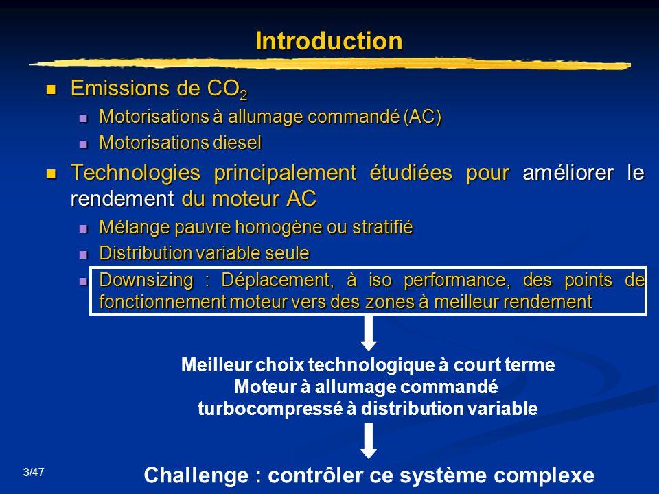 3/47 Introduction Emissions de CO 2 Emissions de CO 2 Motorisations à allumage commandé (AC) Motorisations à allumage commandé (AC) Motorisations dies