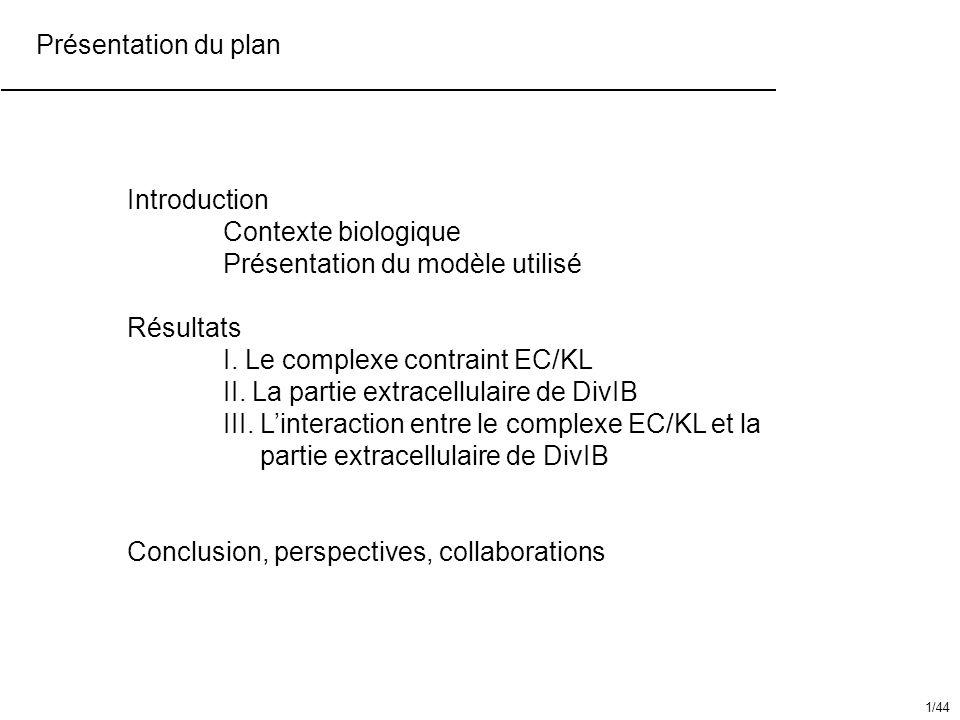 La partie extracellulaire de DivIB Introduction / Contexte biologique Chez E.