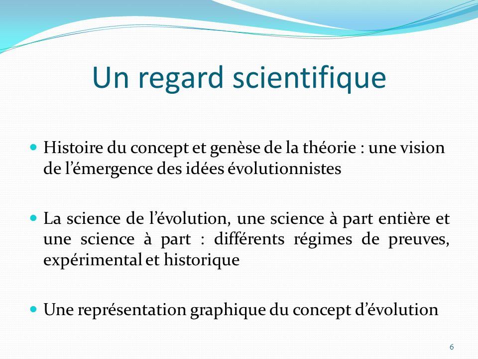 Lacquisition dun premier niveau de conceptualisation de lévolution à lécole primaire peut permettre de contrer des visions plus radicales qui sinstalleraient à ladolescence au nom de la recherche dune identité (au travers de la religion, par exemple).
