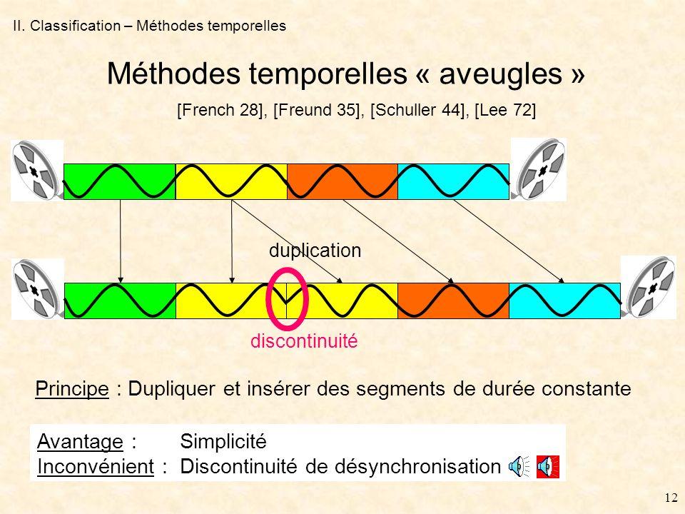 11 II.Classification - Introduction Problèmes abordés depuis longtemps (1928), mais résolus .