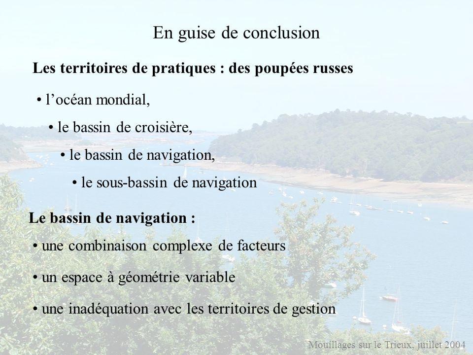 En guise de conclusion Mouillages sur le Trieux, juillet 2004 Le bassin de navigation : un espace à géométrie variable locéan mondial, le bassin de cr