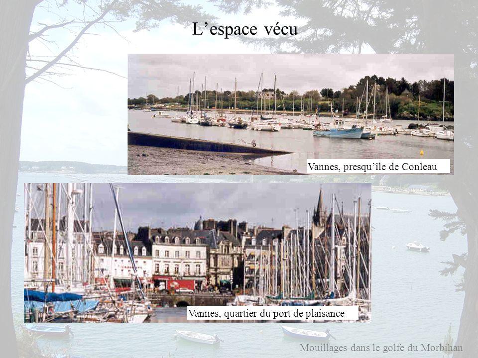 Mouillages dans le golfe du Morbihan Lespace vécu Vannes, quartier du port de plaisance Vannes, presquîle de Conleau