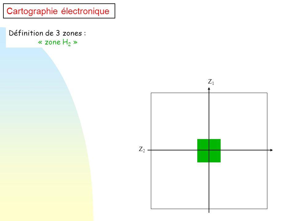 Définition de 3 zones : « zone H 2 » Z1Z1 Z2Z2 Cartographie électronique