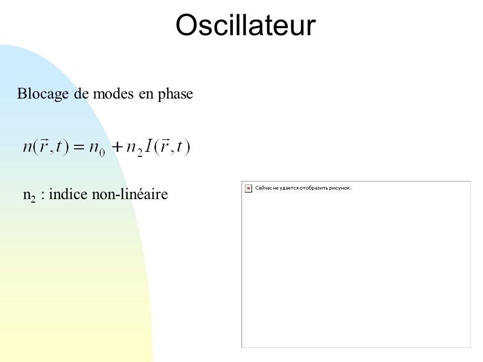 Oscillateur Blocage de modes en phase n 2 : indice non-linéaire