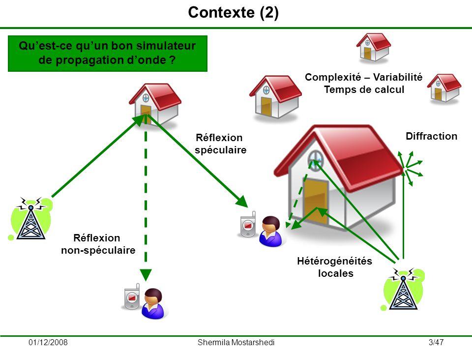 01/12/2008Shermila Mostarshedi4/47 1.Introduction 2.Principes déquivalence 3.Fonctions de Green 4.Application des fonctions de Green 5.Études statistiques 6.Conclusions et perspectives Plan de la présentation