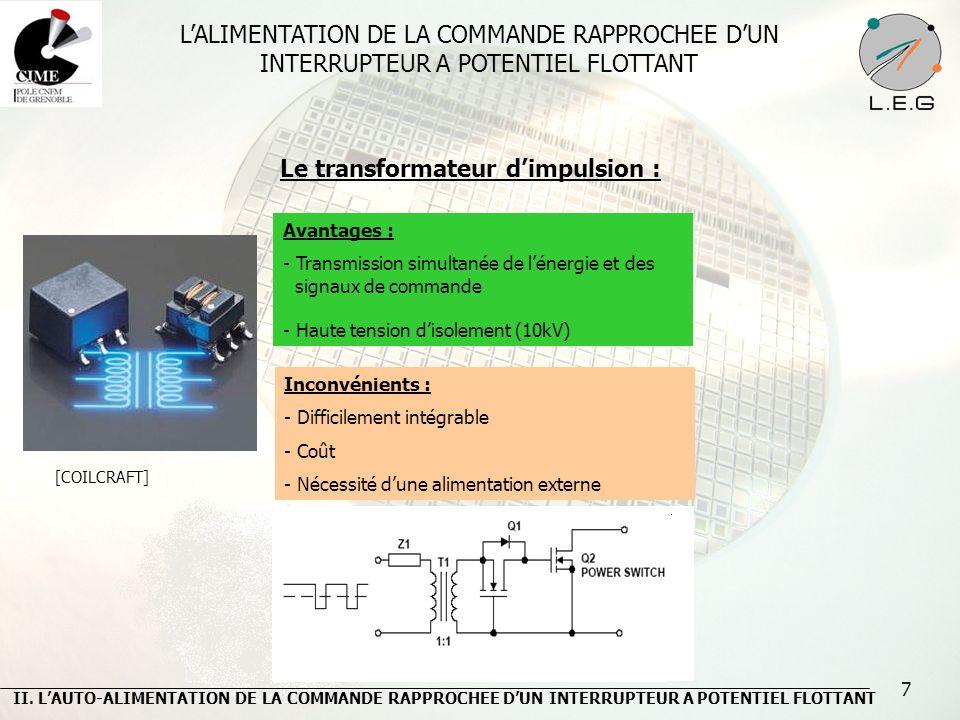 38 Comparaison entre le modèle analytique et la simulation pour un canal de largeur 2µm Comparaison entre le modèle analytique et la simulation pour un canal de largeur 1.5µm Avantage : - Prise en compte des effets bidimensionnels Inconvénient : - Nécessité dune simulation à éléments finis IV.