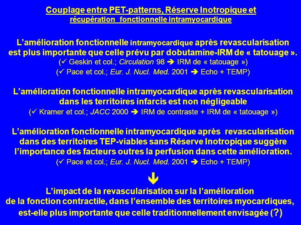 Lamélioration fonctionnelle intramyocardique après revascularisation est plus importante que celle prévu par dobutamine-IRM de « tatouage ». ( Geskin