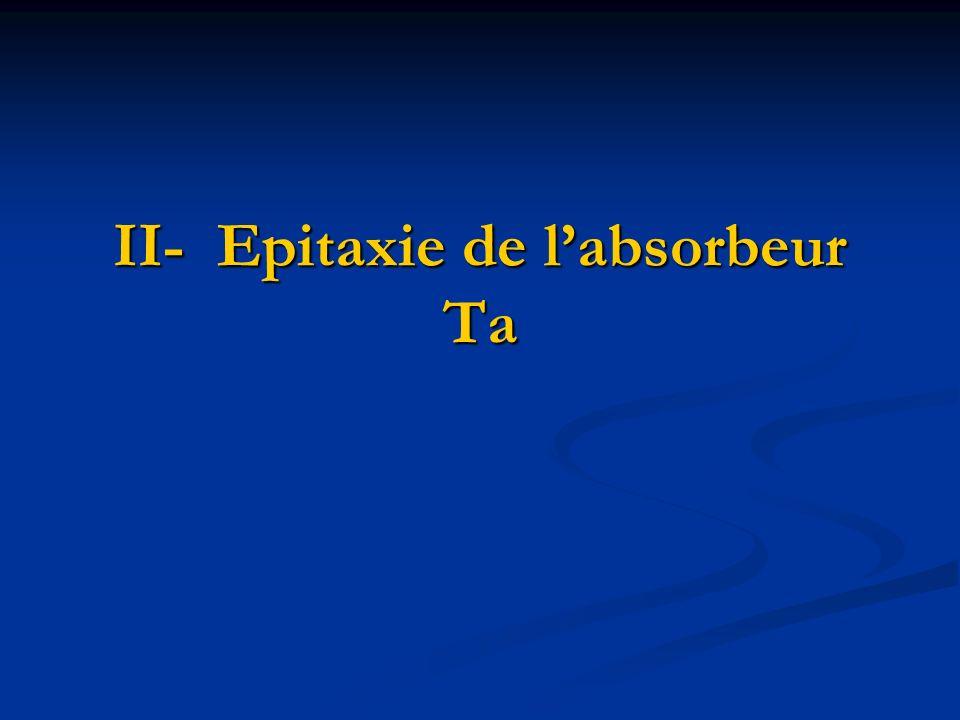 II- Epitaxie de labsorbeur Ta