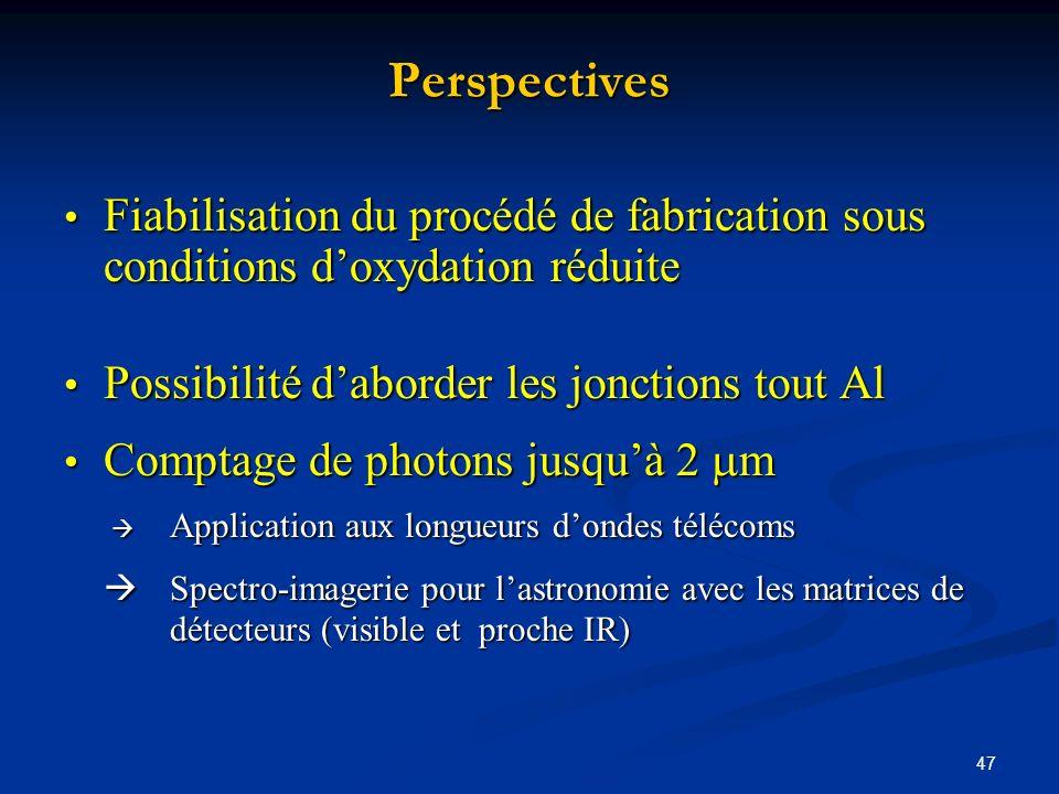 47 Perspectives Fiabilisation du procédé de fabrication sous conditions doxydation réduite Fiabilisation du procédé de fabrication sous conditions dox