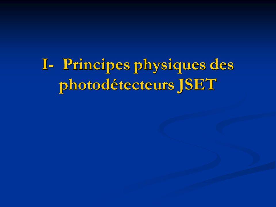 I- Principes physiques des photodétecteurs JSET