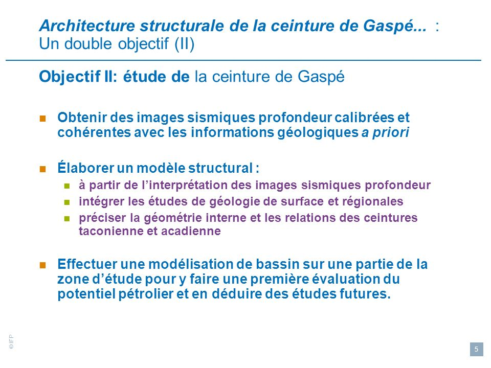 © IFP 26 Lanticlinal de Causapscal Ligne 2001-MRN-08 Interprétation structurale