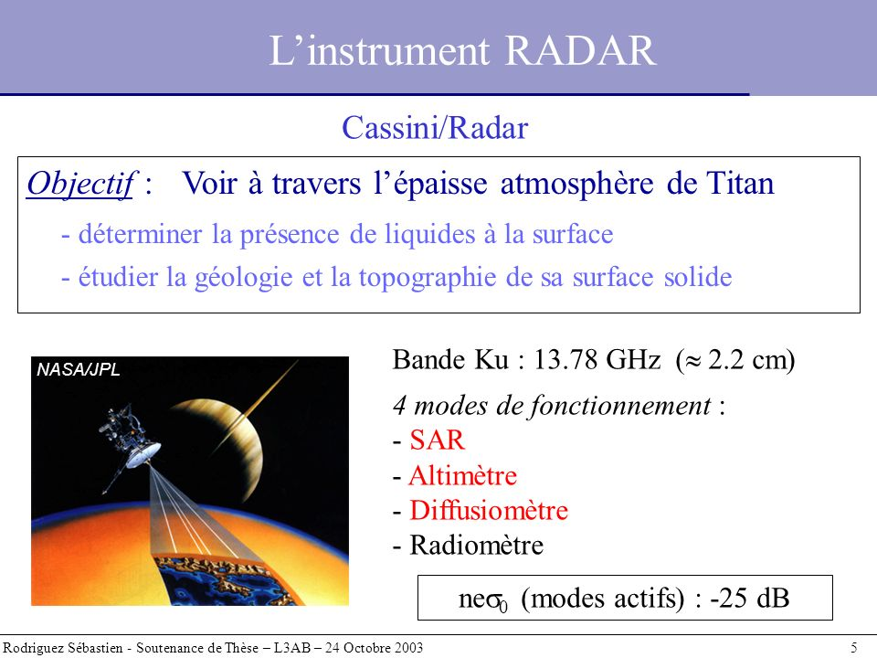 Simulations de transmission atmosphérique : résultats Rodriguez Sébastien - Soutenance de Thèse – L3AB – 24 Octobre 2003 26 Scénarios « humides » Scénarios « secs »