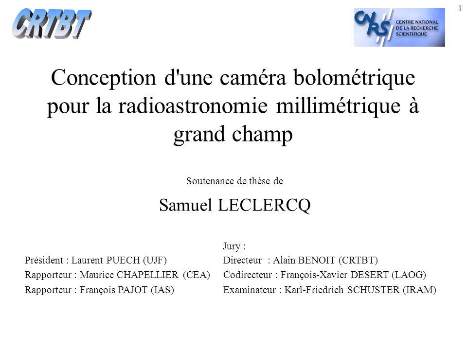 2 Plan de l exposé I.Besoins astrophysiques et spécifications instrumentales.