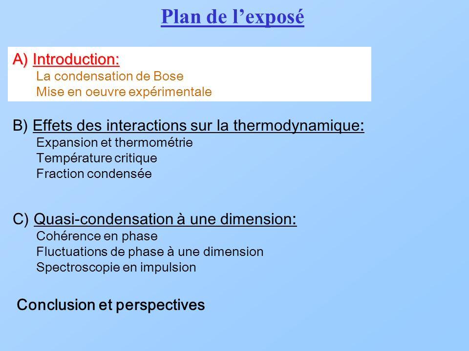Comportement universel Les propriétés thermodynamiques du système ne dépendent que de T/T C0 et Fraction condensee T / T C0 Nombre datomes (10 6 ) T / T C0 =0.49 S.
