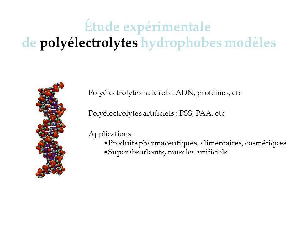 A dsorption du PSS en présence de sels ajoutés h app ~ D p D ~ D p Ellipsométrie :Réflectivité :