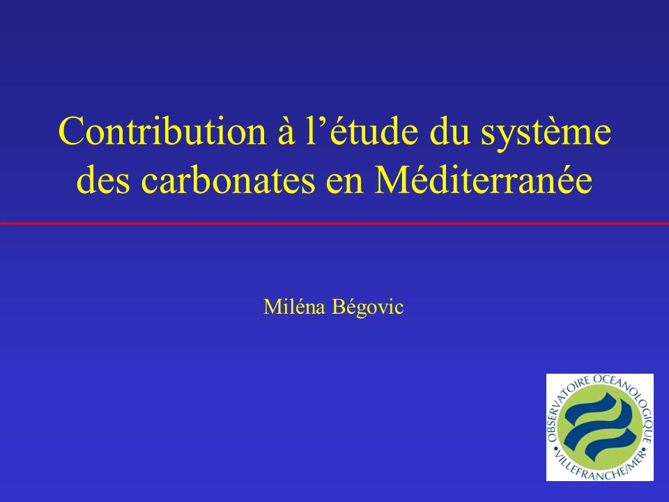 CO 2 Atmosphère Couche de mélange TCO 2 prof TCO 2 Matière organique base variable de la couche de mélange Advection h Echange à linterface Diffusion Mélange vertical Production nette de carbone