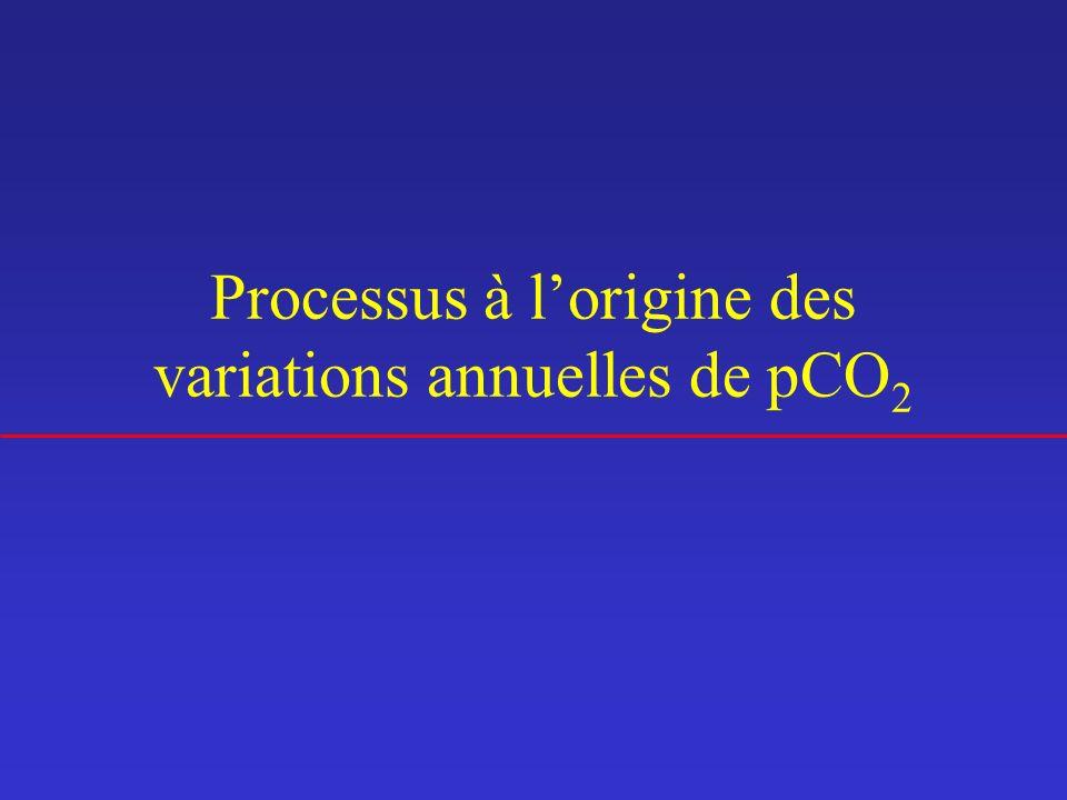 Processus à lorigine des variations annuelles de pCO 2