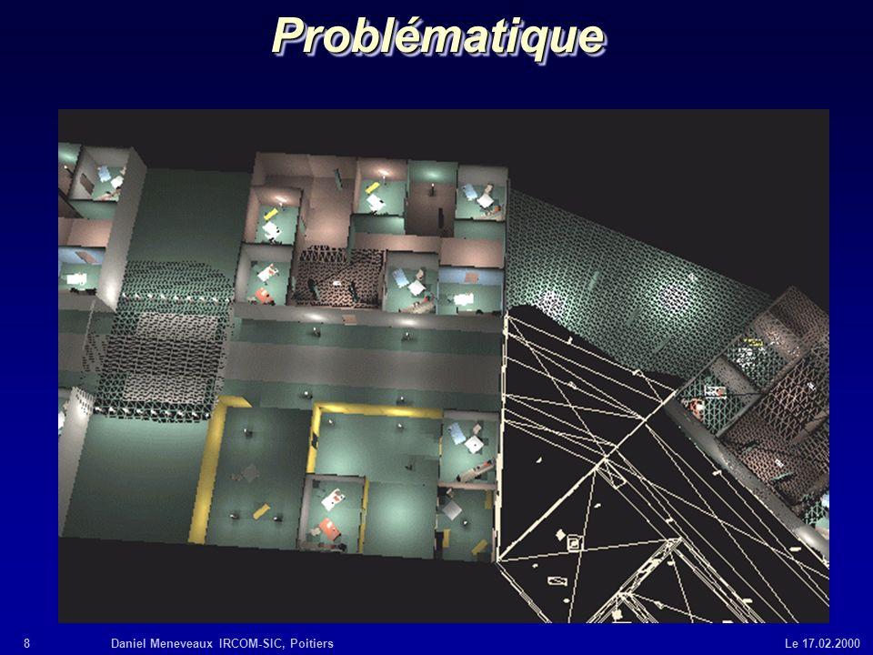 8Daniel Meneveaux IRCOM-SIC, Poitiers Le 17.02.2000ProblématiqueProblématique