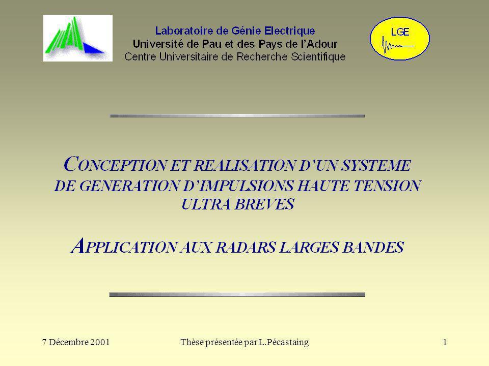 2 Contexte de létude Appel doffre national pour amélioration des performances du démonstrateur radar ULB pour la détection de mines Collaboration entre lIRCOM de Limoges et le CELAR (organisme de la DGA) Réalisation de systèmes transitoires de mesures et de détection radar ULB expérimentaux