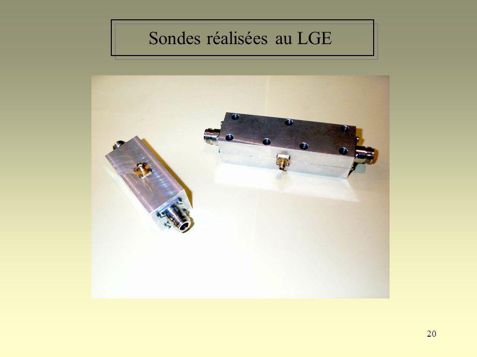 20 Sondes réalisées au LGE