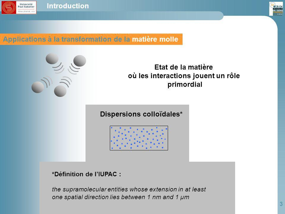 4 Interactions Génie des interactions physico chimiques Génie des interactions physico-chimiques Introduction … Important areas of physical chemistry such as colloids … De Gennes soft matter should be revisited using the system approach and chemical engineering methods.