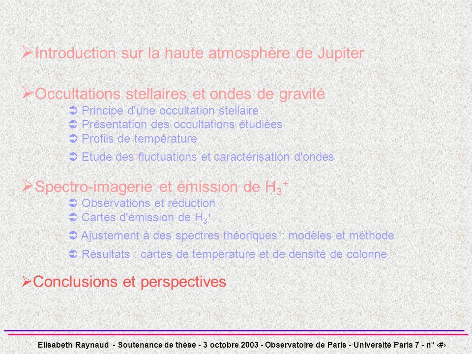 Elisabeth Raynaud - Soutenance de thèse - 3 octobre 2003 - Observatoire de Paris - Université Paris 7 - n° 45 Introduction sur la haute atmosphère de