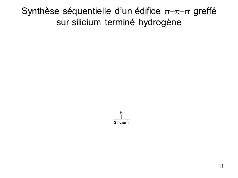 11 Synthèse séquentielle dun édifice greffé sur silicium terminé hydrogène