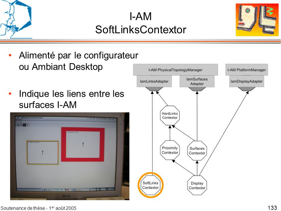 Soutenance de thèse - 1 er août 2005 134 Détection des couplages de manière logicielles
