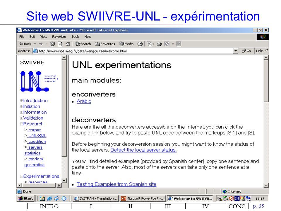 INTROIIIIIIIVCONC p. 64 Site web SWIIVRE-UNL – page daccueil